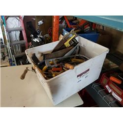 TOTE OF HAND SAWS