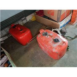 2 BOAT ANCHORS AND 2 MARINE GAS CANS