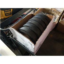 Box of hard  rubber Dolly wheels