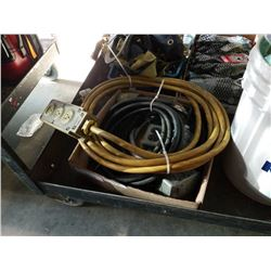 Box of electrical wire and outlets