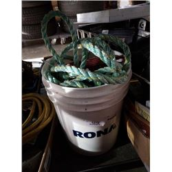 PAIL OF ROPE, CLIMBING SAFETY GEAR