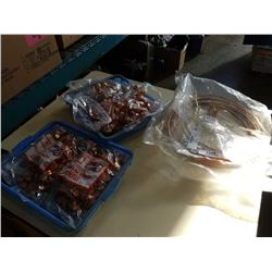 Lot of copper wire and copper pipe holders