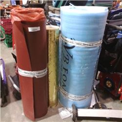 3 ROLLS OF FOAM AND INSULATION
