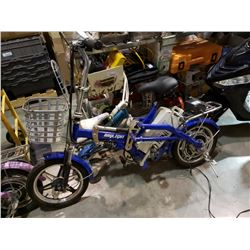 Blue raylight mini ebike with charger - working