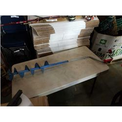 ICE FISHING HAND AUGER