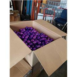 BOX OF 100 PLUS CHRISTMAS BALL ORNAMENTS