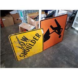 2 street signs