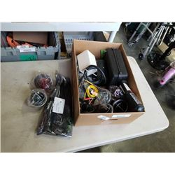 LOT OF NEW ELECTRICAL LIGHTS, HEAT SHRINK TUBING AND MORE