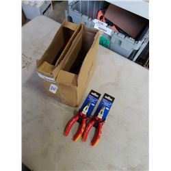 2 BOXES OF NEW BENT LONG NOSE PLIERS