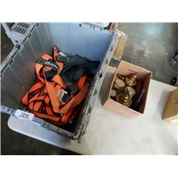 TOTE OF FALL ARREST HARNESS AND VALVES