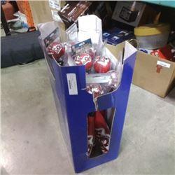 Box of new padded bat and ball sets
