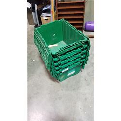 5 TOTES WITH BUILT IN LIDS
