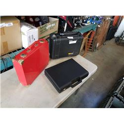 Pelican case  with 2 other cases