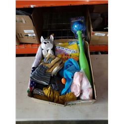 Box of new kids items, headbands and more