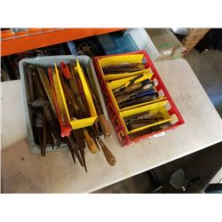 2 TRAYS OF FILES AND CHISELS
