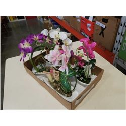 4 NEW ARTIFICIAL ORCHIDS