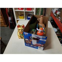 Box of vintage collectibles