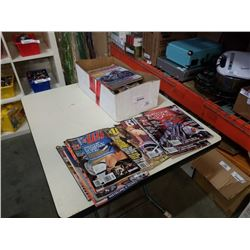 BOX OF MOTORCYCLE AND ADULT MAGAZINES