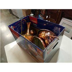 Box of copper ware