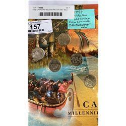 1999 CANADIAN MILLENIUM COIN SET W/ 2 NUNAVIT COIN