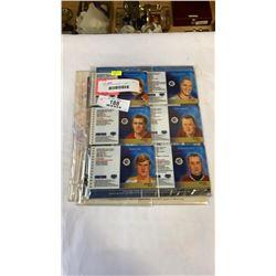 LIMITED EDITION SERIES 1, 2, AND 3 STAMP/CARD SETS - GRETZKY, HOWE, ORR, BELIVEAU, HORTON, ETC AND 1