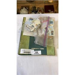 BINDER AND BAGS OF COLLECTOR STAMPS
