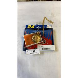 Ontime motorcycle pocket watch and nascar playing cards