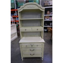DIXIE 3 DRAWER DRESSER WITH 2 DRAWER HUTCH