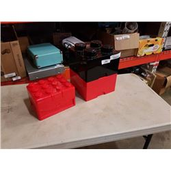 3 LEGO STORAGE CONTAINERS