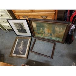 Lot of antique pictures
