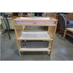 MAPLE CHANGE TABLE AND PLAY PEN