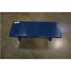 Blue 3 ft bench