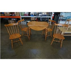DROPLEAF DINING TABLE WITH 4 CHAIRS