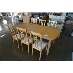 "IKEA FORISHED TABLE 40"" X 76""/100"" AND 6 CHAIRS"