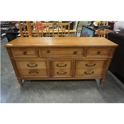9 DRAWER SATIN WALNUT DRESSER