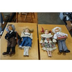 4 hand made collector dolls