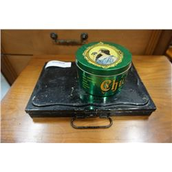 VINTAGE CHICLETS TIN AND ANTIQUE PAINT KIT