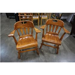 2 MAPLE CHAIRS