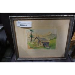 FRAMED WATER COLOR SIGNED  A.L DAVEY