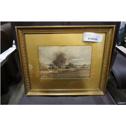 "FRAMED WATERCOLOUR ON PAPER ""A CLOUDY DAY"" SIGNED GEORGE KLEIN"