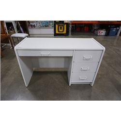 WHITE 4 DRAWER DESK