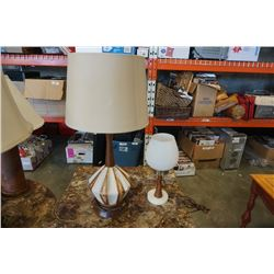 2 MCM TABLE LAMPS