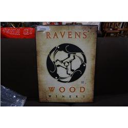 RAVENS WOOD WINERY TIN SIGN