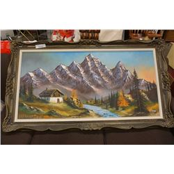 LARGE OIL PAINTING ON CANVAS BY SPAGNOLO