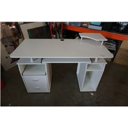 WHITE DOUBLE PEDESTAL DESK