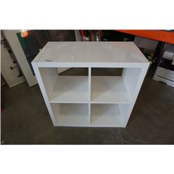 WHITE CUBICLE SHELF