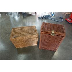 2 WICKER HAMPERS