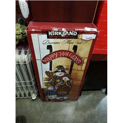 DECORATIVE METAL SLED IN BOX