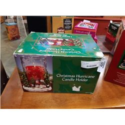 CHRISTMAS HURRICANE CANDLE HOLDER IN BOX
