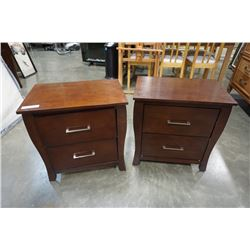 2 MODERN 2 DRAWER NIGHTSTANDS